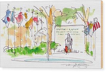 Philadelphia Park Wood Print by Marilyn MacGregor