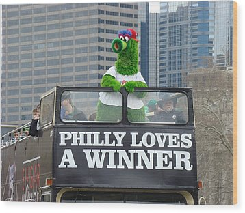 Philly Loves A Winner Wood Print by Alice Gipson