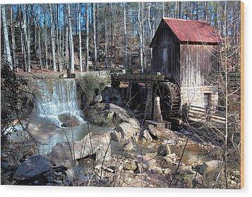 Pine Run Mill Wood Print by Rick Mann