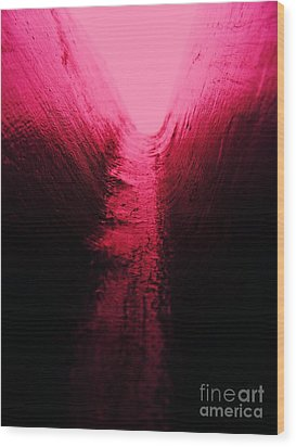 pink Valley Wood Print by Trevor Fellows