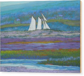 Pirates On The Lahave River Wood Print by Rae  Smith PSC