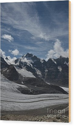 Piz Bernina Wood Print by Bruno Santoro