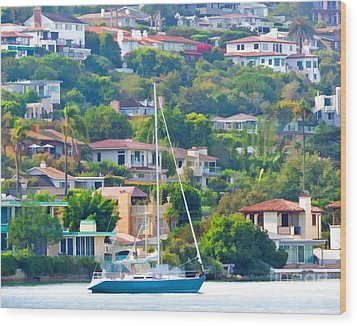 Point Loma Harbor Side Wood Print by L J Oakes