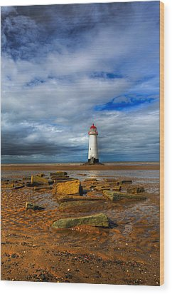 Point Of Ayr Beach Wood Print by Adrian Evans