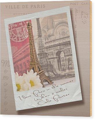 Polaroid Memories Wood Print by Sandra Rossouw