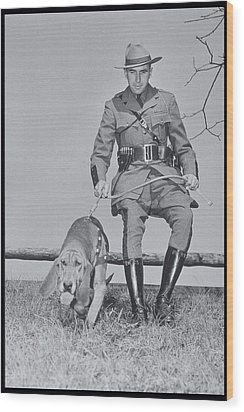 Policeman And His Dog Walking, 1950s Wood Print by Archive Holdings Inc.