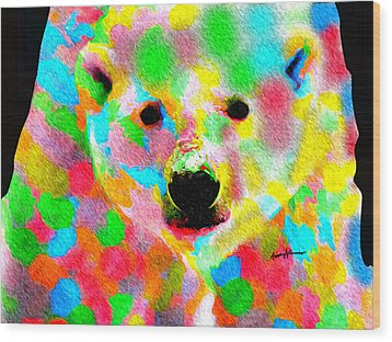 Polychromatic Polar Bear Wood Print by Anthony Caruso