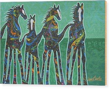 Pony Pastures Wood Print by Lance Headlee