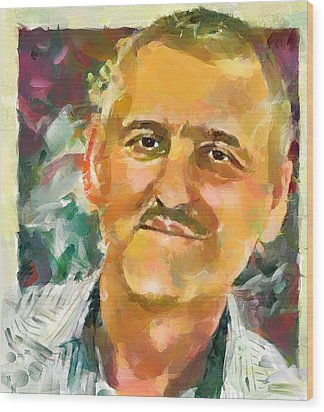 Portrait Of A Painter Wood Print by Yury Malkov