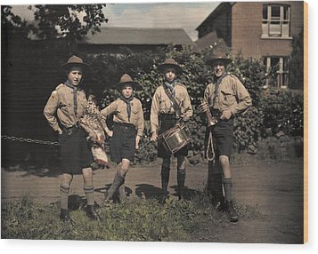 Portrait Of Boy Scouts At Abinger Wood Print by Clifton R. Adams
