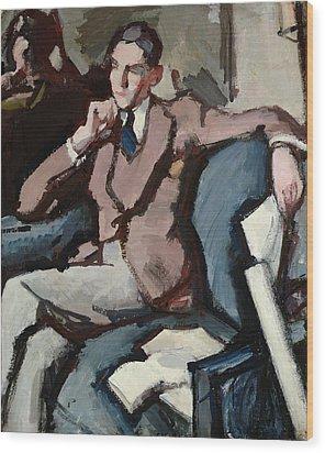 Portrait Of Willie Peploe Wood Print by Samuel John Peploe