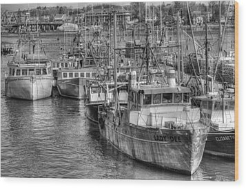 Portsmouth Fishing Fleet Wood Print by Ron St Jean