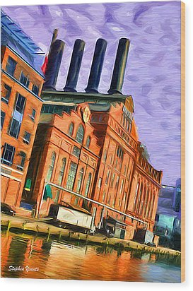 Power Plant Wood Print by Stephen Younts