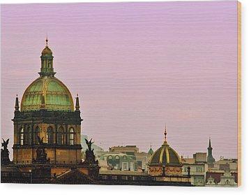 Prague - A Living Fairytale Wood Print by Christine Till