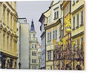 Prague - Walking In The Footsteps Of Kings Wood Print by Christine Till