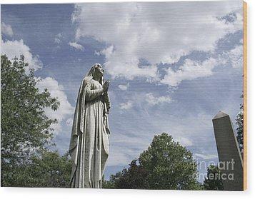 Praying In The Sky.02 Wood Print by John Turek