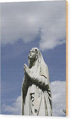 Praying In The Sky.03 Wood Print by John Turek