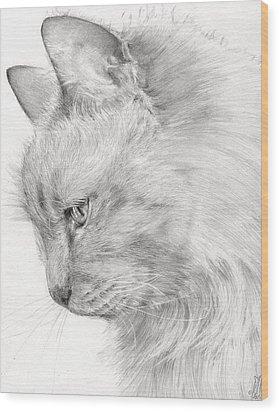 Princess Fleur Wood Print by Monique Geurts
