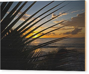 Puerto Rican Sunset IIi Wood Print by Tim Fitzwater