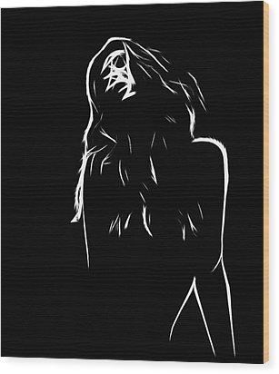 Pure Lust Wood Print by Steve K
