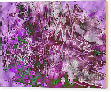 Purple Abstract Wood Print by Carol Groenen