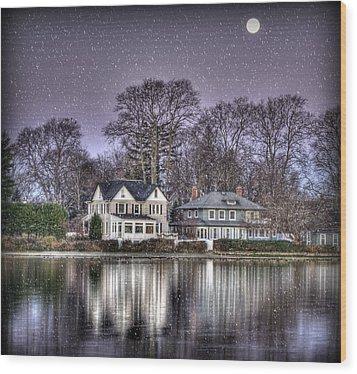 Purple Snow Wood Print by Vicki Jauron