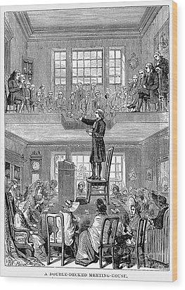 Quaker Meeting House Wood Print by Granger