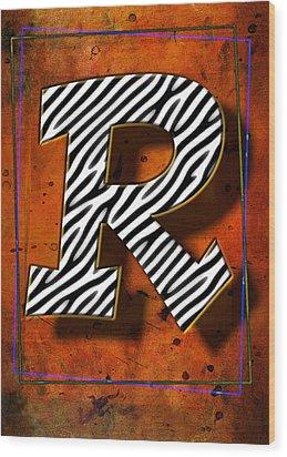 R Wood Print by Mauro Celotti