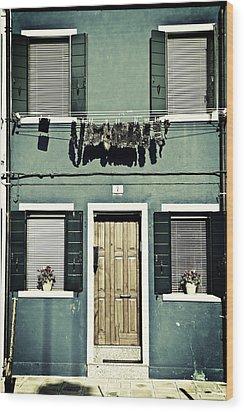 rags in Venice Wood Print by Joana Kruse