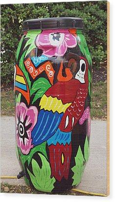Rain Barrel 2 Wood Print by Luis Lugo