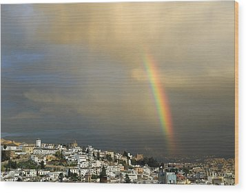 Rainbow Over Granada Yesterday Wood Print by Guido Montanes Castillo