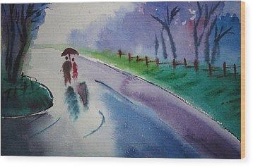 Rainy Season Wood Print by Vijayendra Bapte