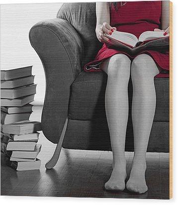 Reading Wood Print by Joana Kruse