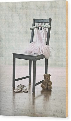Ready For Ballet Lessons Wood Print by Joana Kruse