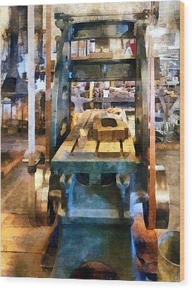 Reciprocating Flatbed Planer Wood Print by Susan Savad
