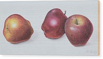 Red Apples Wood Print by Margaret Ann Eden