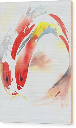 Red Koi Wood Print by Rachel Dutton