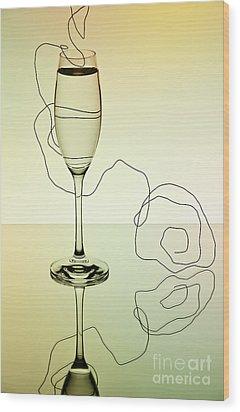Reflection 01 Wood Print by Nailia Schwarz