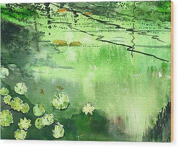 Reflections 1 Wood Print by Anil Nene