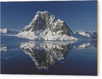 Reflections With Ice Wood Print by Antarctica