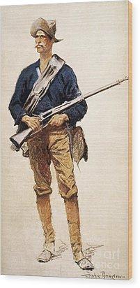 Remington: Soldier, 1901 Wood Print by Granger
