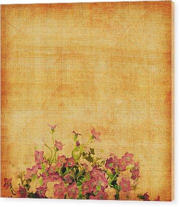 Retro Flower Pattern Wood Print by Setsiri Silapasuwanchai