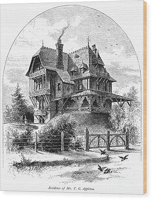 Rhode Island: Villa, 1876 Wood Print by Granger