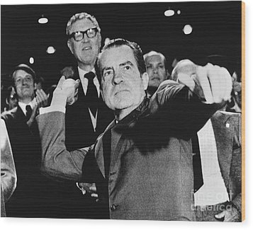 Richard Nixon (1913-1994) Wood Print by Granger