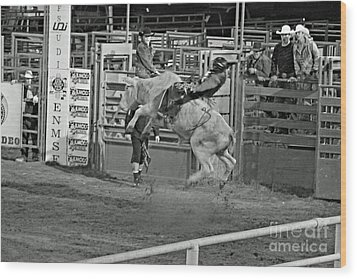 Ride 'em Cowboy Wood Print by Shawn Naranjo