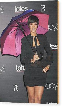 Rihanna Wearing Matthew Williamson Wood Print by Everett