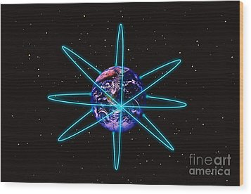 Rings Around The Earth Wood Print by Stocktrek Images