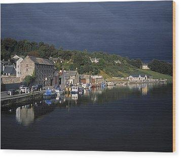 River Barrow, Graiguenamanagh, Co Wood Print by The Irish Image Collection