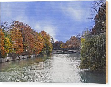 River Colors Wood Print by Anthony Citro