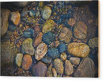 River Rock Wood Print by Karol Livote
